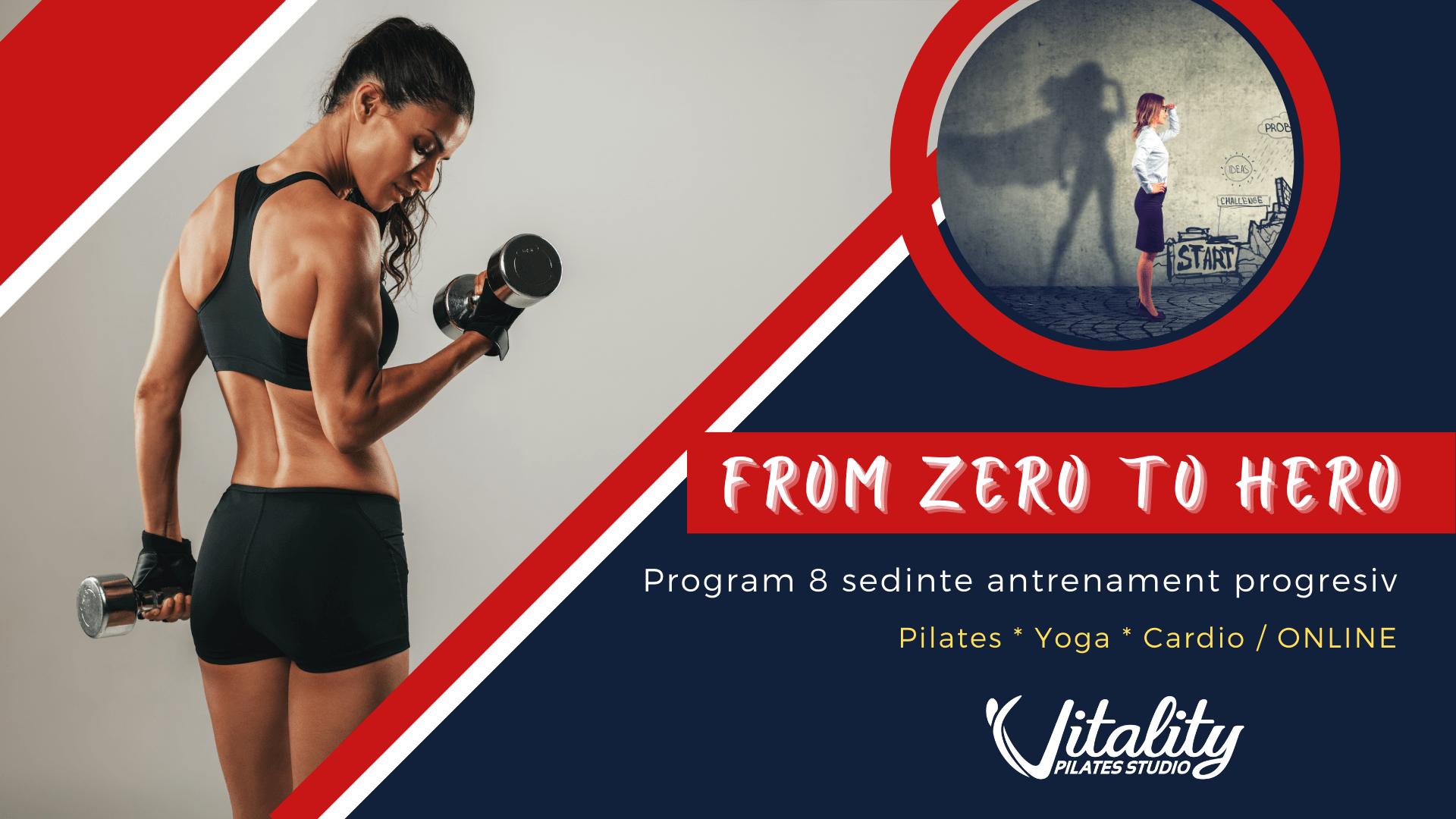 antrenament progresiv yoga pilates fitness