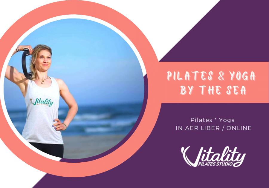 pilates yoga by the sea